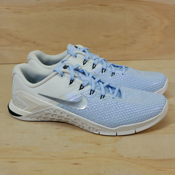 NEW NIKE WOMENS METCON 4 XD MTLC AV2252-400 CROSSFIT TRAINING SHOES SIZE 10